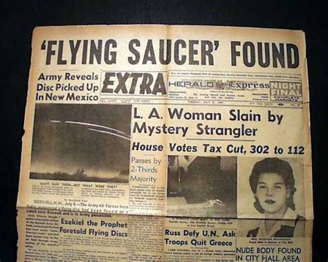 Original Roswell Newspaper Article