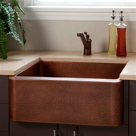hammered copper kitchen sinks signature hardware 25 quot fiona hammered copper farmhouse 4119
