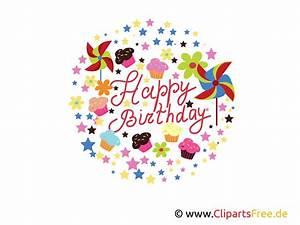 Happy, Birthday, Clipart, Grafik, E