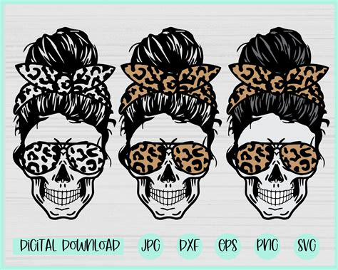 We would like to show you a description here but the site won't allow us. Leopard Mom life Skull svg Messy bun skull svg Mom life ...