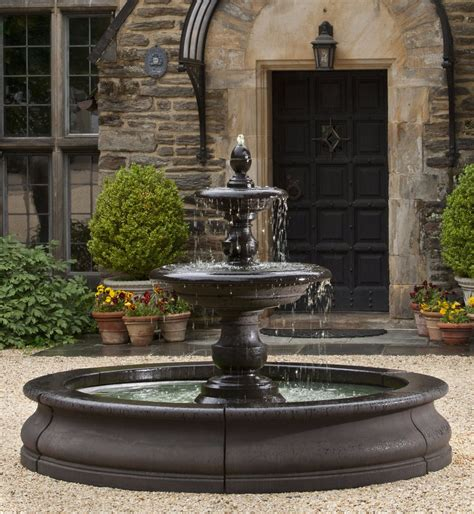 backyard water fountains caterina outdoor water in basin by cania