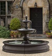 outside water fountains Caterina Outdoor Water Fountain in Basin by Campania