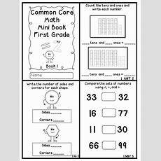Common Core Math Mini Books Freebie!!!  Flying Into First Grade