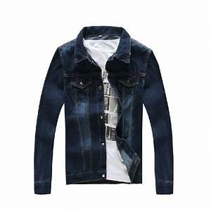 Fashion Designer Denim Jackets Men Long Sleeves Solid Jeans Jacket Mens Denim Coats Clothing ...