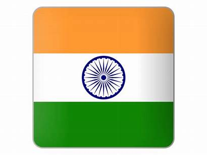 India Icon Square Flag Indian Symbol Commercial