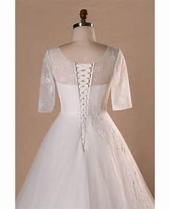 Modest V-neck And Short Sleeve Long White Plus Size ...