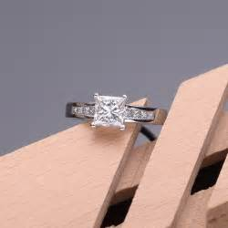 1 carat engagement rings 1 carat princess cut engagement ring jewelocean