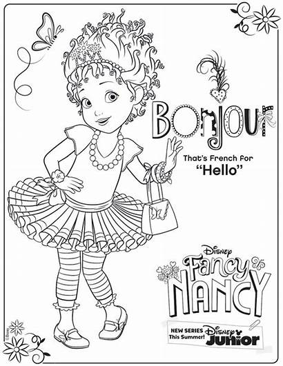 Nancy Fancy Coloring Pages Disney Activity Printable