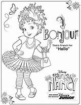 Nancy Fancy Coloring Pages Disney Activity Printable Sheets Sheet Junior Printables Bonjour Clancy Fun 20th Volume Coming Dvd November Say sketch template