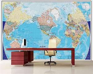 Tapisserie Carte Du Monde : fr murale papier peint d coration int rieure laurentides ~ Teatrodelosmanantiales.com Idées de Décoration