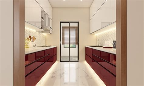 parallel kitchen design ideas livspace 4100