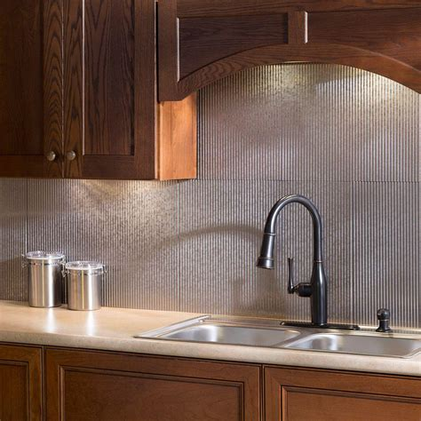 kitchen wall backsplash panels fasade 24 in x 18 in rib pvc decorative backsplash panel