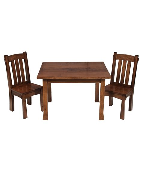 child s modesto table with two chairs amish direct furniture