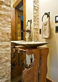 nice wood bathroom sinks 15 Stylish Wood Furniture And Features With Natural Edge