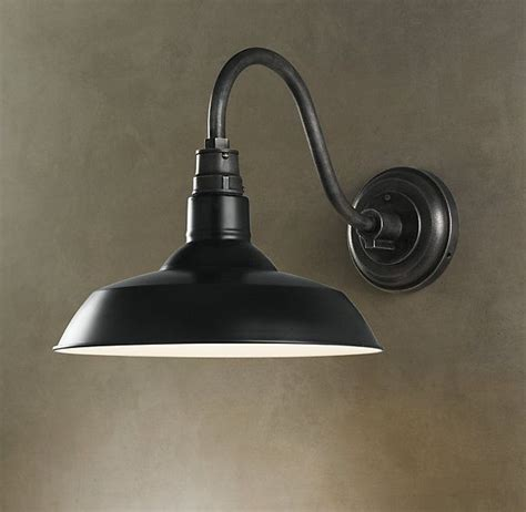 vintage barn sconce black house