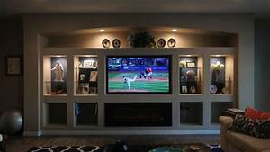 Drywall Entertainment Center - Walltech Drywall Services