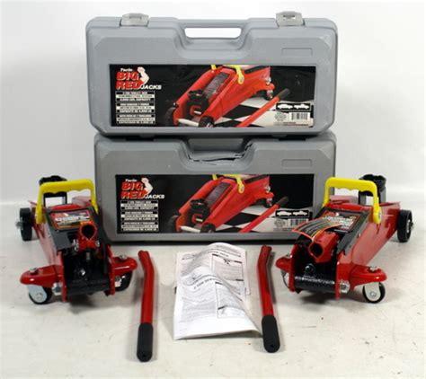 torin floor manual lot 2 torin big jacks 2 ton hydraulic service car