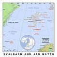 Detailed political map of Svalbard and Jan Mayen island ...
