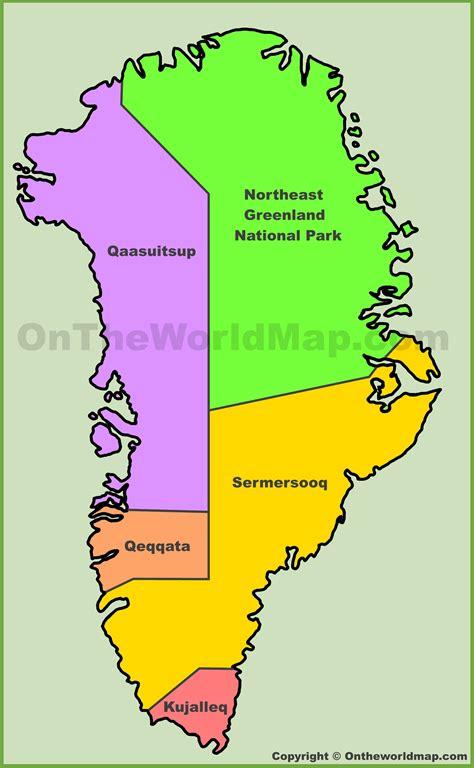administrative map  greenland