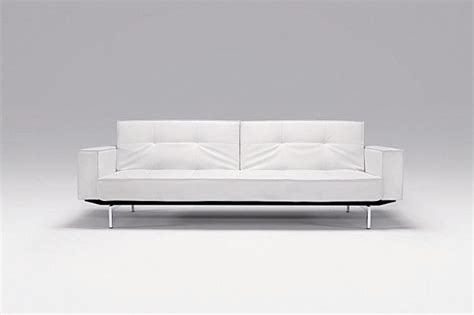 high end sofa beds oz deluxe sofa bed white leather textile by innovation
