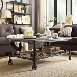 Table Salon Industriel : personnalisez votre salon avec le meuble tv industriel ~ Melissatoandfro.com Idées de Décoration