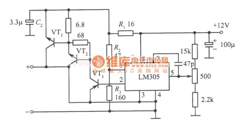 regulated power supply circuit diagram composed