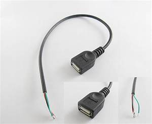 5x Usb 2 0 A Female Jack 4 Pin 4 Wire Data Charge Cable