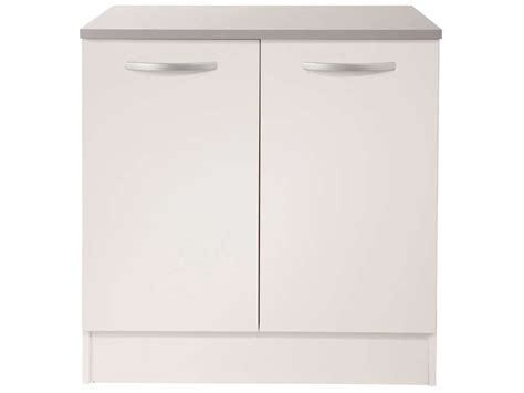 elements de cuisine conforama meuble bas 80 cm 2 portes spoon coloris blanc vente de meuble bas conforama