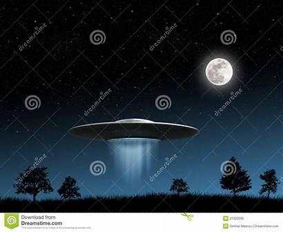 Flying Saucers Saucer Background Ufo Night Render