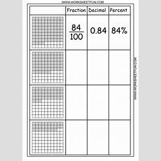 Convert Between Percents, Fractions And Decimals  8 Worksheets  Free Printable Worksheets