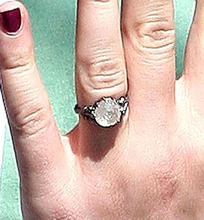 anna paquin shows  engagement ring  vault