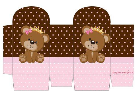 ursinha princesa rosa e marrom kit digital gratuito blog inspire sua festa 174 geisy