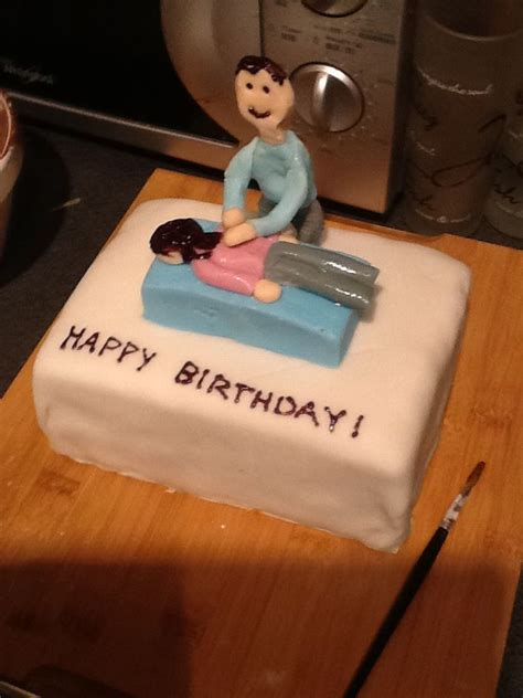 Chiropractor birthday cake made for my boyfriend