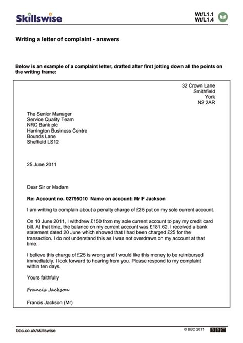 how to write a grievance letter writing a letter of complaint
