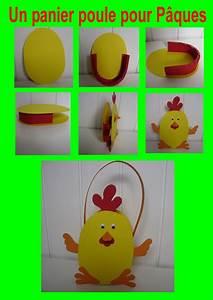 Poule Pour Paques : un panier poule pour p ques poule panier et p ques ~ Zukunftsfamilie.com Idées de Décoration