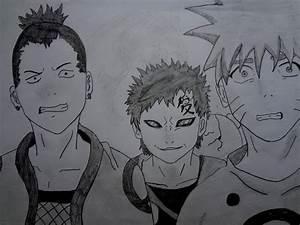 Naruto, Shikamaru and Gaara by Ivanishvili on DeviantArt