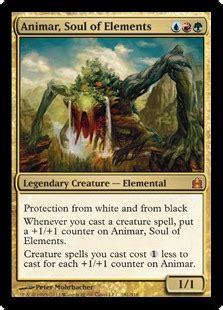 animar soul of elements magic the gathering commander