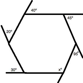 find  angle   hexagon act math
