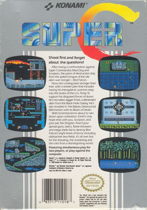 Super Contra 1990 Nes Box Cover Art Mobygames