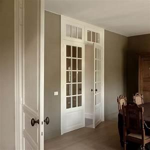 menuiseries With porte de garage enroulable avec porte intérieure vitrée blanche