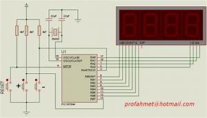 Pic16f84a 0-9999 Counter Circuit