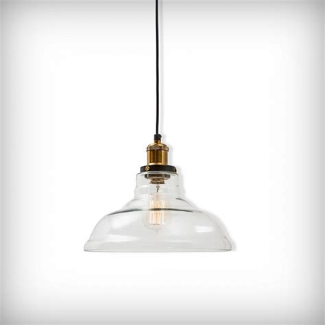 edison factory glass bowl pendant light clear edison