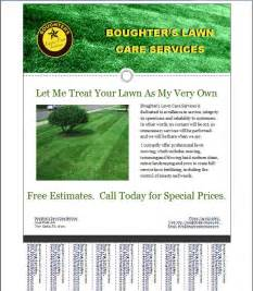 landscaping flyers samples lawn care flyer template free