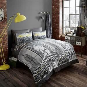 La housse de couette new york un beau style pour la for Chambre à coucher adulte moderne avec housse couette ny