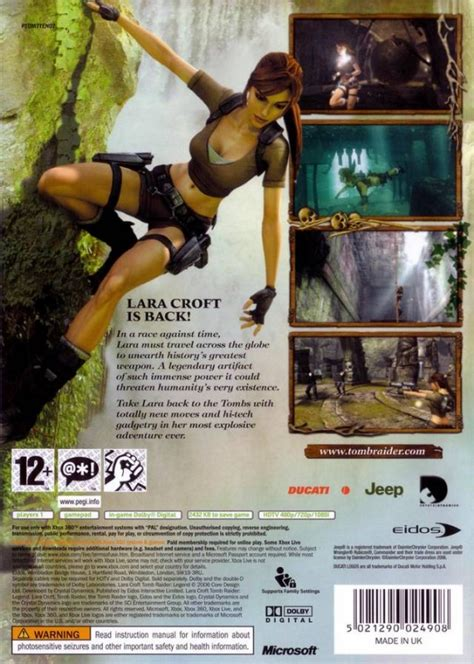 tomb raider legend  xbox  sales wiki release