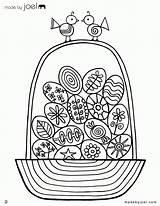 Coloring Easter Empty Basket Popular sketch template