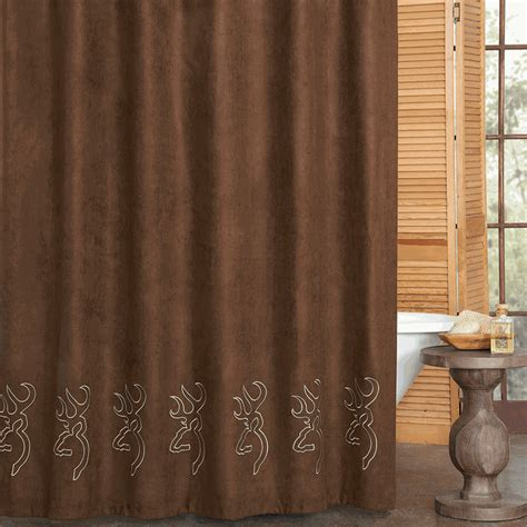 buckmark suede shower curtain