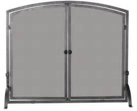 39'' / 44'' Single Panel Olde World Iron Fireplace Screen