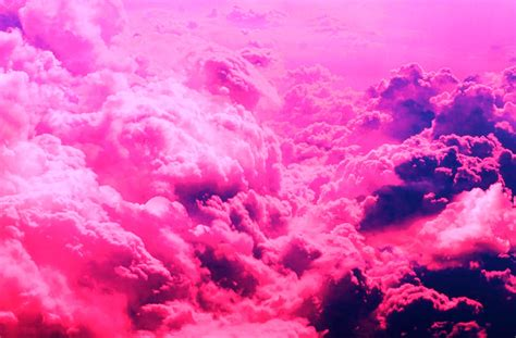 Pink Clouds Wallpaper And Background Image