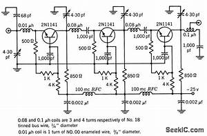 100 Mc Cascaded - Basic Circuit - Circuit Diagram